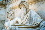 Roman statue on Capitoline Hill - 185709519