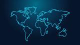 Technology world map background