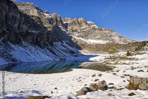 Foto op Canvas Bergen Bergsee Oberblegisee