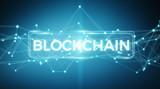 Blockchain connection background 3D rendering - 185724787