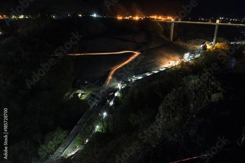 2017年春の八ッ場ダム予定地の風景