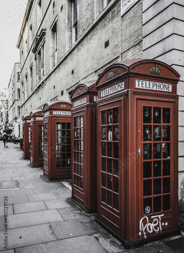 Fotobehang London Cabine di Londra