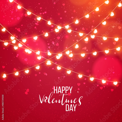 Saint valentine day background with colorful hearts with frame. Happy valentines day and weeding design elements. Vector illustration. Pink Background With hearts. Doodles and curls. Be my valentine.