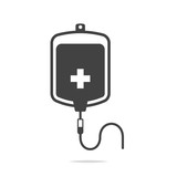 Blood transfusion icon vector - 185746191