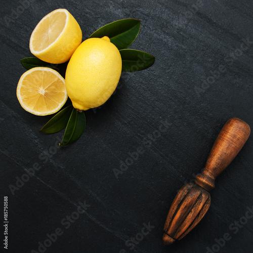 Fresh ripe lemons - 185750588