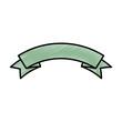 ribbon decorative frame icon vector illustration design