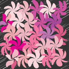 Abstract Whimsical Flower Background