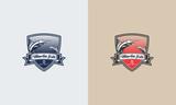 Vintage Fishing Logo designs badge, Marlin Fish Logo designs vector