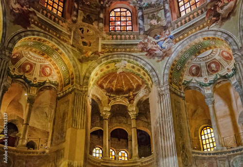 Gallery ambulatory of the Basilica of San Vitale - Ravenna, Italy