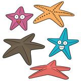 vector set of starfish