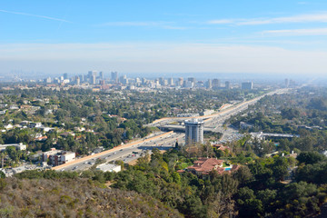 View over Los Angeles toward Century City