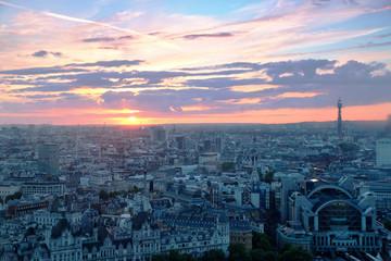 Londyn - zachód słońca
