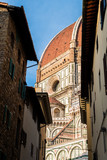 santa maria fiore dome view from a street of florence
