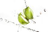 frischer grüner Apfel Wasserspritzer