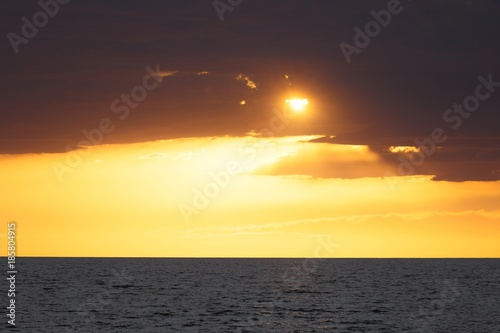Beautiful sunset at the sea Poster