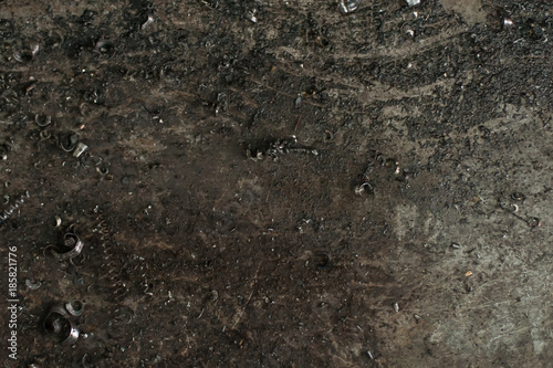 Metal scrap sawdust as an abstract background - 185821776