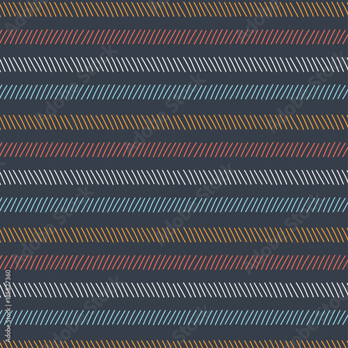 Abstract geometric lines vector seamless pattern - 185827360