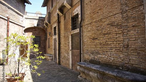 Keuken foto achterwand Smal steegje Castel Sant'Angelo Rome Italy