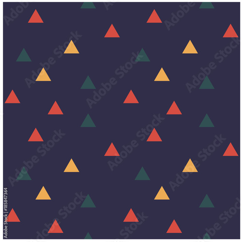 Color triangles seamless pattern. Design for print, fabric, textile. Seamless wallpaper - 185847364