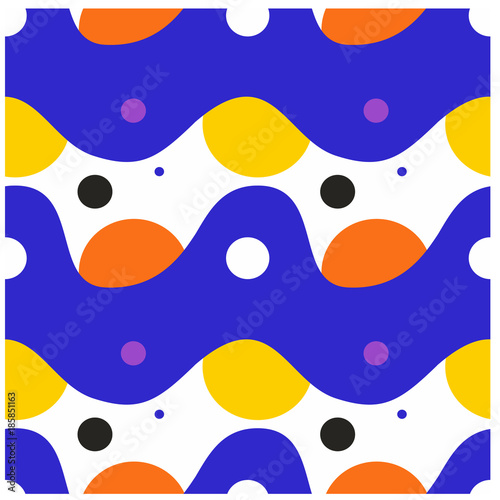 Materiał do szycia Creamy and juicy seamless pattern. Design for print, fabric, textile. Seamless wallpaper