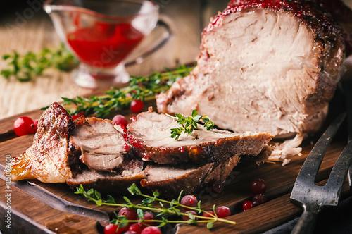Baked pork meat - 185862768