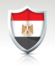 Shield with Flag of Egypt