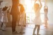 kid practice ballet dancing