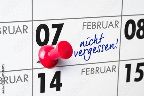 Poster Wandkalender - 07. Februar