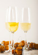 luxurious champagne in a glass, festive way of celebrating a new year or important events, toast with sparkling wine
