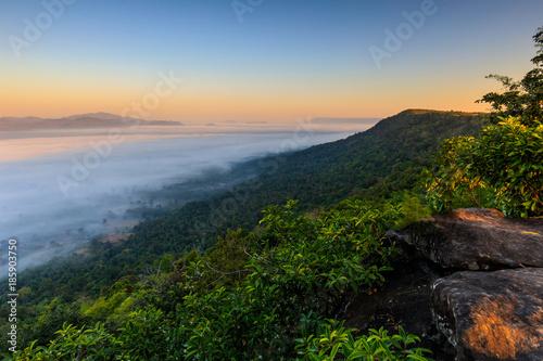Aluminium Thailand Pha-chom-mok, Landscape sea of mist on the mountain in Nongkhai province Thailand.