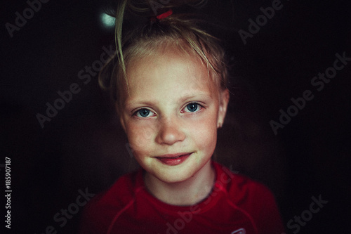 child portrait, expressive eyes of a little girl