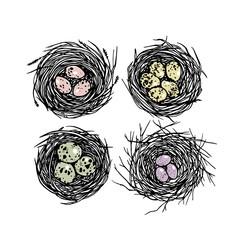 Hand drawn nests