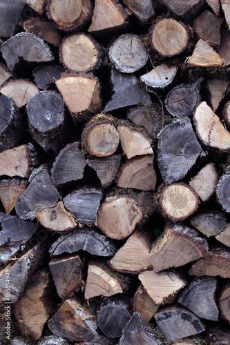 In de dag Brandhout textuur bois de chauffage