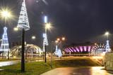 Christmas lights of Katowice city