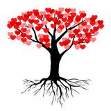 Tree hearts leaves - 185918771