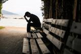 depression, teen depression, pain, suffering, tunnel. - 185922373