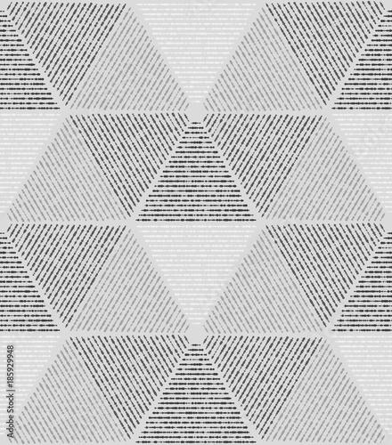 Gray modern geometric texture. A seamless vector background.. - 185929948