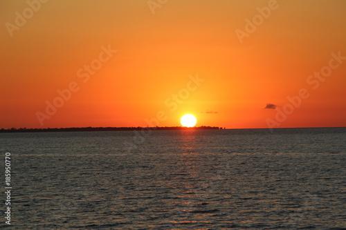 Poster Oranje eclat Amazon Sunset