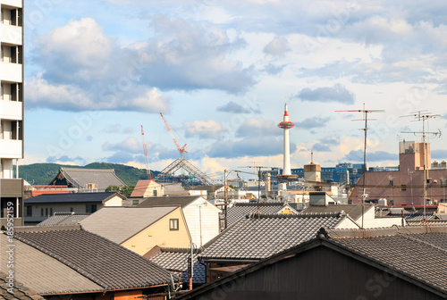 Fotobehang Kyoto Kyoto City Skyline - Japan