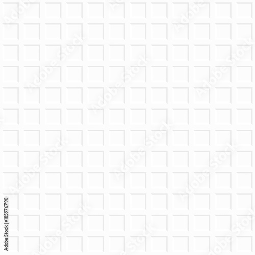 Fototapeta White decorative geometric background. Seamless pattern.