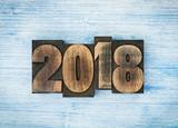 2018 written with letterpress type - 185980768