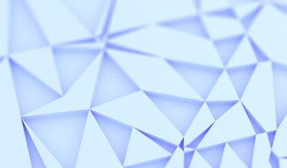 3D Rendering Of Abstract Random Rectangle Forms With Blue Tint