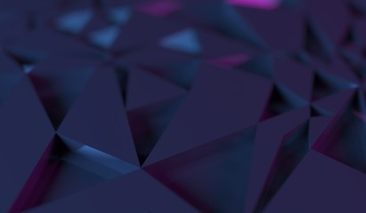 3D Rendering Of Abstract Dark Random Rectangle Forms