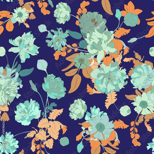 Seamless Vector Botanical Wallpaper