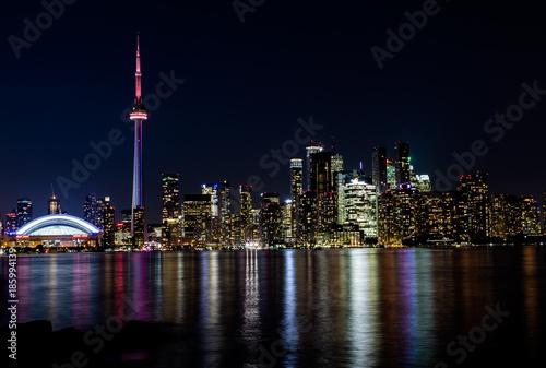 Foto op Plexiglas Canada Night view of downtown Toronto, Ontario, Canada
