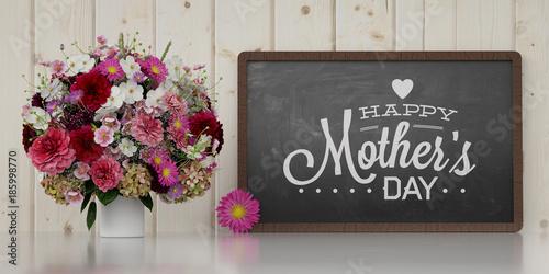 Happy Mother's Day mit Blumenstrauß