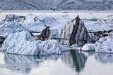 View of the famous glacier lagoon Jokulsarlon, Iceland - 186004588