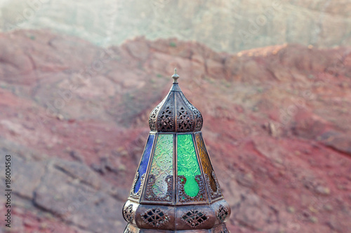Keuken foto achterwand Marokko colorful glass on a moroccan lamp