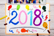Photo of colorful drawing: New Year Celebration, 2018