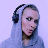 Girl in stylish headphones. DJ vibes - 186015778